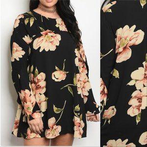 Dresses & Skirts - DRESS PLUS SIZE FLORAL DRESS